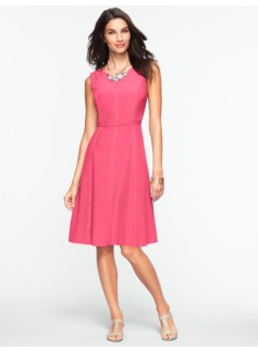 Fit & Flare Silk Dress