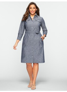 Polka-Dot Shirtdress