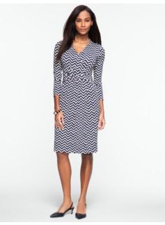 Chevron-Stripe Dress