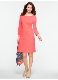 Slub-Knit Cotton Tee Dress