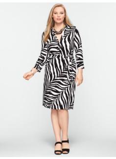 Zebra-Print Shirtdress
