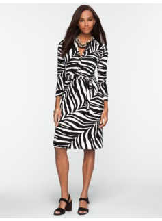 Zebra-Print Shirtdress