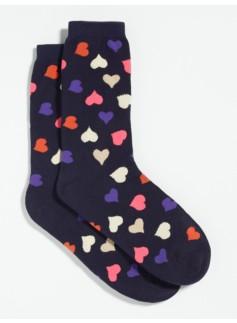 Heart-Print Socks