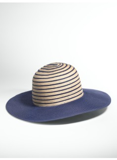Skinny Stripe Straw Hat