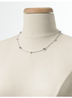 Sterling Silver Pearl & Bead Necklace