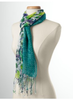 Mirrored-Floral & Dot Scarf