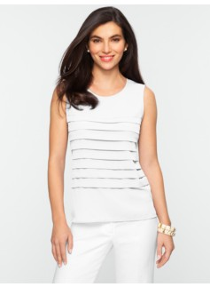 Pleat-Front Top