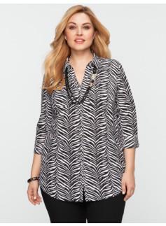 Nantucket Zebra-Print Shirt