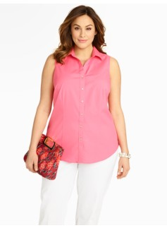Wrinkle-Resistant Sleeveless Shirt