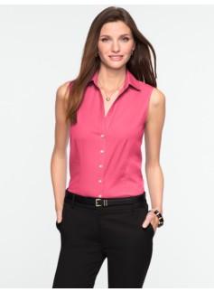 Wrinkle-Resistant Sleeveless Shirt