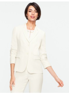 Seasonless Crepe Two-Button Jacket
