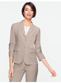 Seasonless Crepe Two-Button Jacket