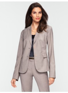 Empire Pinstripe Peaked-Lapel Jacket