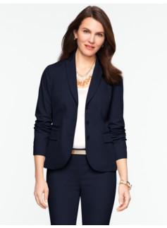 Cotton Viscose Three-Button Jacket