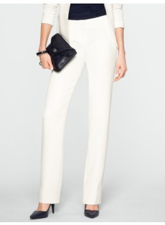 Signature Seasonless Crepe Straight-Leg Pants