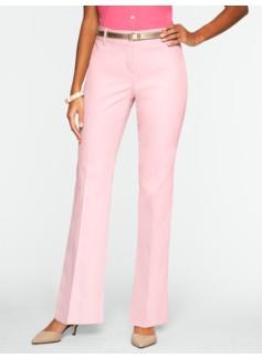 Curvy Cotton Viscose Bootcut Pants
