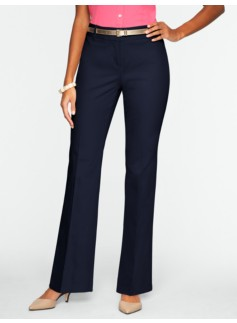 Curvy Cotton Viscose Bootcut Pants