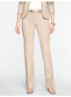 Signature Cotton Viscose Straight-Leg Pants