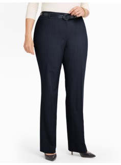 Seasonless Wool Bootcut Pants - Curvy