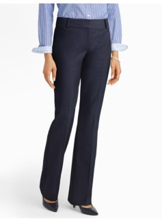 Curvy Seasonless Wool Bootcut Pants