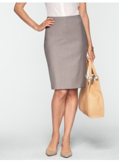 Empire Pinstripe Pencil Skirt