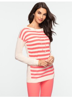 Block-Stripe Sweater