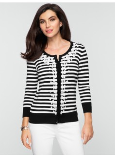Sequin Striped Cardigan