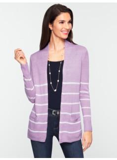 Stripe Linen Flyaway Cardigan