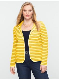 Paradise-Stripe Sweater Jacket