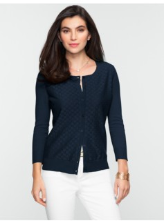 Circle Lace-Front Cardigan