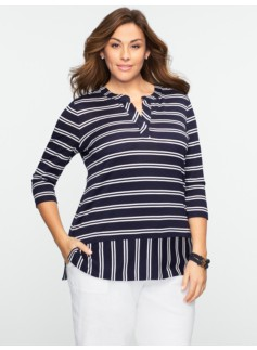 Double-Stripe Henley