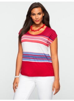 Ava Stripe V-Neck Tee