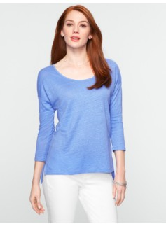 Linen Drop-Shoulder Tee