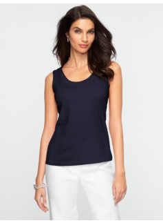 Ruched Scoopneck Tank