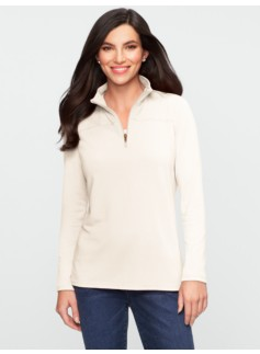 Stretch Weekend Terry Half-Zip Sweatshirt