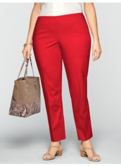 Heritage Polished Sateen Ankle Pants