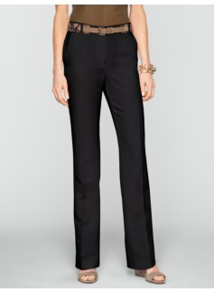 Heritage Refined Linen Bootcut Trousers