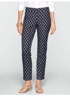 Signature Octagon Geo Jacquard Ankle Pants