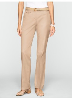 Curvy Twill Straight Leg Pants