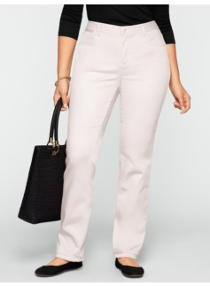 Slimming Heritage Peached Sateen Straight-Leg Pants