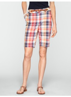 "11"" Madras Plaid Bermuda Shorts"