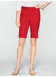 "11"" Polished Sateen Bermuda Shorts"