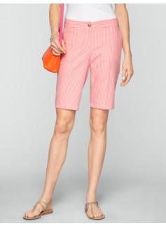 "11"" Stripe Seersucker Bermuda Shorts"