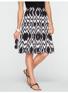 Ikat-Diamond Pleated Skirt