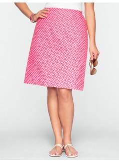 Diamond-Tile A-Line Skirt