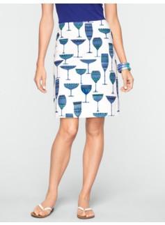 Murano Glasses A-Line Skirt