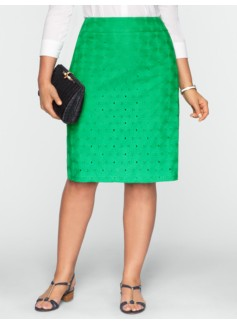 Blooming Flower Eyelet Skirt