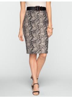 Animal-Jacquard Skirt