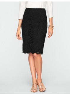 Corded-Lace Skirt