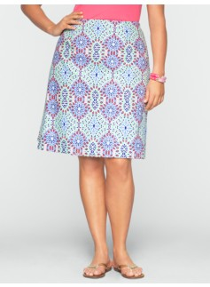 Preppy-Tile A-Line Skirt